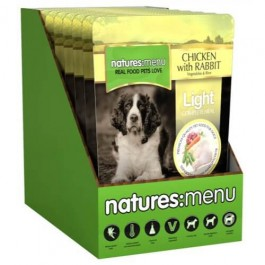 Natures Menu Light Dog Chicken & Rabbit 8 x 300g - Dogtor