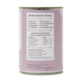 Pure Dog Wholesome Goose & Buckwheat Tin 400g - Dogtor