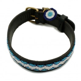 Malulu Kilifi Blue Regular Dog Collar - Large n' Chunky - Dogtor