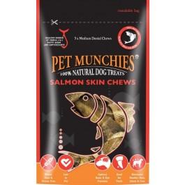 Pet Munchies Salmon Chews Dog Treats 90g - Medium - Dogtor