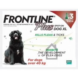 Frontline Plus Spot-on for extra large dogs - 3 pipettes - Dogtor