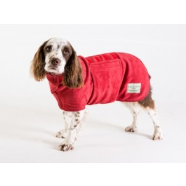 Ruff & Tumble Red Drying Coat - M - Dogtor