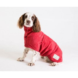 Ruff & Tumble Red Drying Coat - S - Dogtor