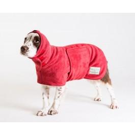 Ruff & Tumble Red Drying Coat - M/L - Dogtor