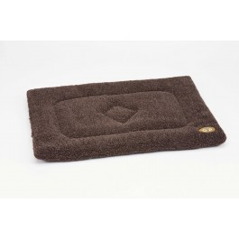 Gor Pets Brown Sherpa Fleece Crate Mat - Medium