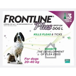 Frontline Plus Spot-on for large dogs - 3 pipettes - Dogtor