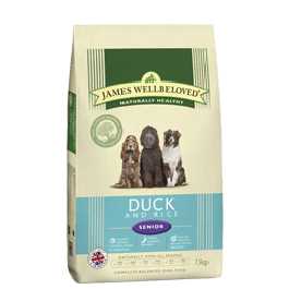 James Wellbeloved Senior Dog Duck & Rice 7.5kg