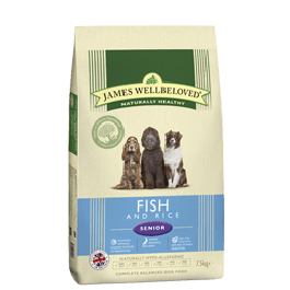 James Wellbeloved Senior Dog Fish & Rice 15kg