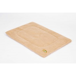 Gor Pets Beige Sherpa Fleece Crate Mat - Small