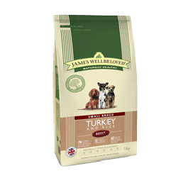 James Wellbeloved Adult Dog Small Breed Turkey & Rice 7.5kg