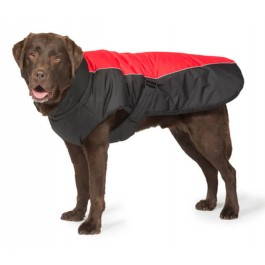"Danish Design Sports Luxe Dog Coat - Red & Black (20"") - Dogtor"