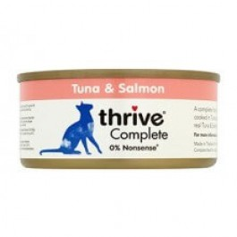 Thrive 100% Tuna & Salmon Complete Cat Wet Food 12 x 75g - Dogtor