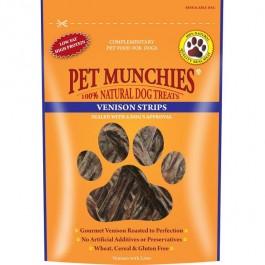 Pet Munchies Venison Strips Dog Treats 75g