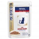 Royal Canin Feline Veterinary Diet Renal Beef Pouch 48 x 85g