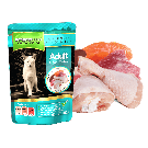 Natures Menu Adult Cat Chicken, Salmon & Tuna Pouch 12 x 100g