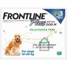 Frontline Plus Spot-on for medium dogs - 3 pipettes