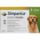 Simparica 80mg Chewable Tablets for Large Dogs 20 - 40kg (pack of 3)