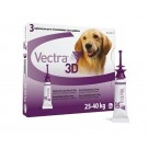 Vectra 3D for Large Dogs 25 - 40kg (pack of 3)