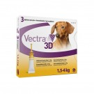 Vectra 3D for Extra Small Dogs 1.5 - 4kg (pack of 3)