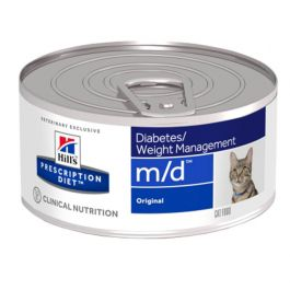 Hill's Feline Prescription Diet m/d Diabetes/Weight Management Tin 24 x 156g