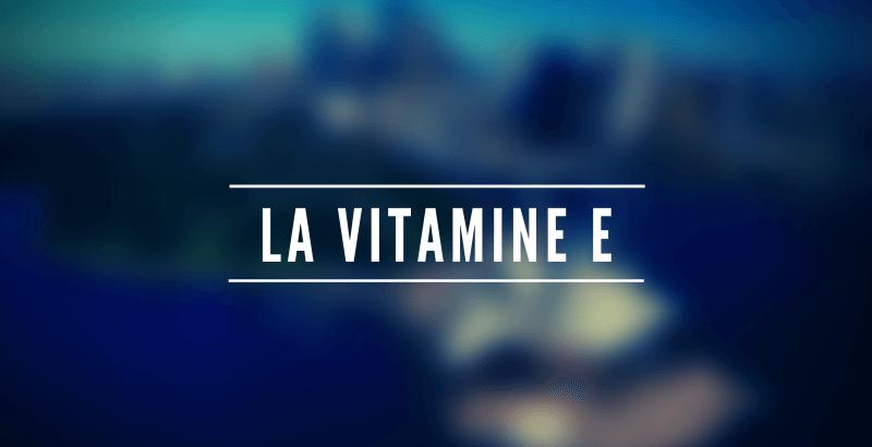 Les nutriments - La vitamine E